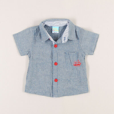 Camisa vaquera lil capitain de marca Cheeky en color Denim claro 6 Meses