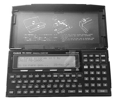 Pocket Personal Computer Casio PB 2000C(Made in Japan & in very good condition)