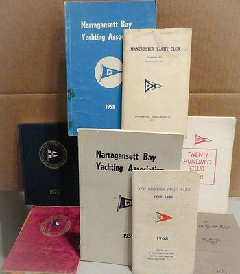 Vintage 1907-1978 Member Booklets NEW ENGLAND YACHT CLUBS Annisquam Sippican