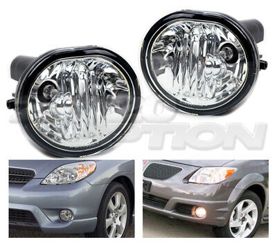 Oe Style Fog Lights Pair Clear Lens Lamps For 03 08 Toyota Matrix Pontiac Vibe