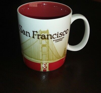 Starbucks  16 oz Coffee cup San Francisco city icon collector series mug 2010