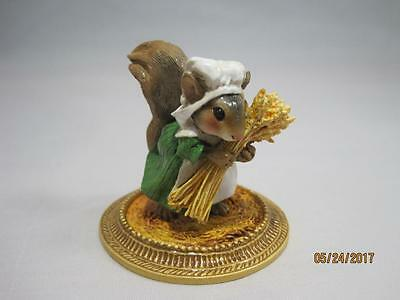 Wee Forest Folk Squirrel Peasant a la Gauguin - Retired - New in WFF Box