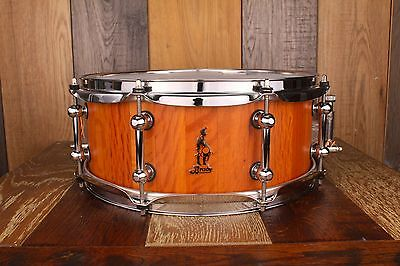 Brady 13 X 5.5 Sheoak Block Snare Drum Natural Satin (Pre-Loved)