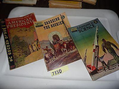 Classics Illustrated lot of 3 special issues Science Presidents Rockies