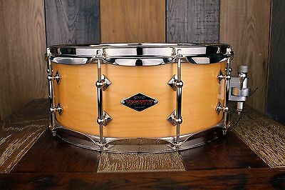 Craviotto Custom Shop Series Solid Maple Shell 14 X 5.5 Snare Natural Lacquer