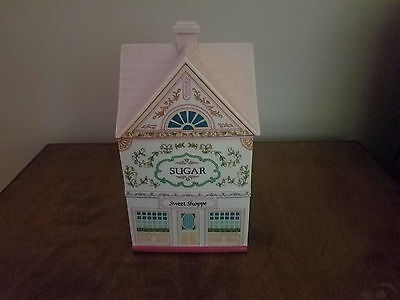 "Lenox Village Canisters ""Sugar Sweet Shoppe"" Porcelain, 1990 Used No Box"