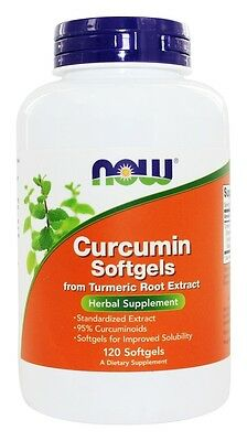 Now Foods Curcumin Softgels Turmeric Root Extract 120 Softgel