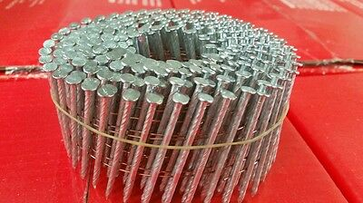 Coil Nails 2.5 X 57Mm Electo Galv  Box Of 9000 Fencing Building  Paling