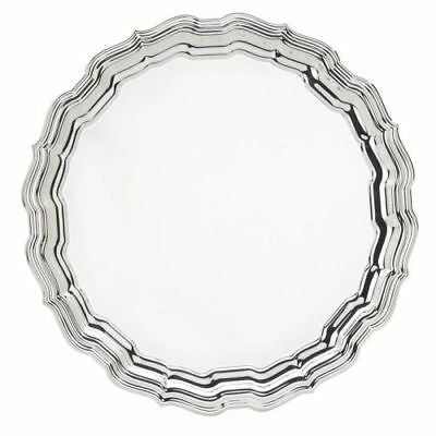 New Reed & Barton Chippendale Round Tray- Engravable