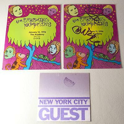 Smashing Pumpkins - Tickets for Academy, NYC 1/11/96 - SIGNED! + SNL Badge