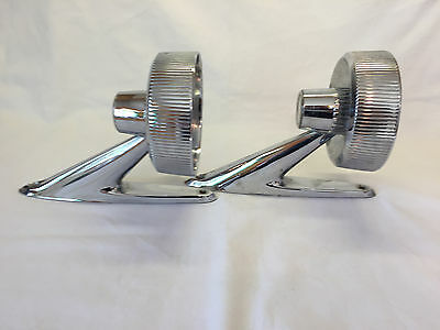 2 Vintage Ford Galaxie Side Mirrors Car Parts Rat Rod Chrome