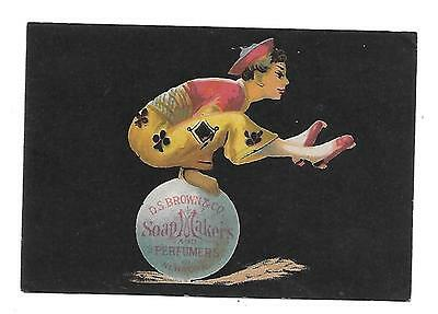 D. S. Brown & Co., Soap Makers And Perfumers Victorian Trade Card