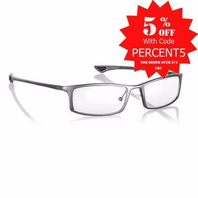 Gunnar Phenom Crystalline Graphite Indoor Digital Eyewear PC Gaming Glasses..