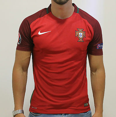 NEW Portugal Home National Team 2016/2017 Football Jersey Red  Vapor Match