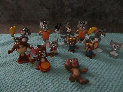 Hanna Barbera Tom and Jerry PVC Figure Lot Of 15, some from Bullylad