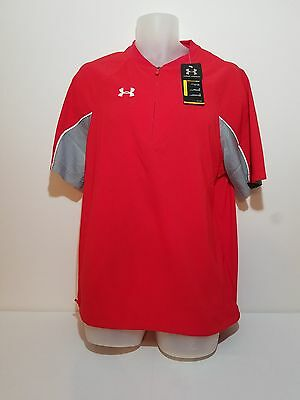 New Under Armour UA Contender Cage Adult Batters Jacket 1232952 Red S Baseball