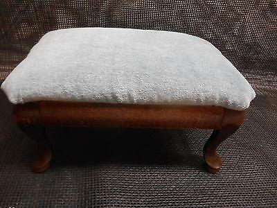 Old Vtg Genuine Mahogany Wood Footstool Ottoman Stool Foot Rest Furniture