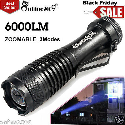 6000LM Flashlight CREE Q5 LED 3Modes AA/14500 ZOOMABLE Torch Lamp Super Bright