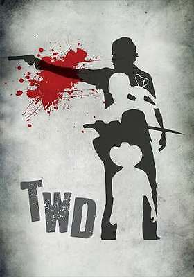 The Walking Dead 4 Character Silhouettes Fridge Magnet