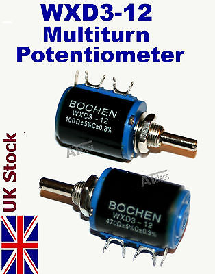 WXD3-12   5 turn Potentiometer Wirewound Variable Precision multi-turn POT -UK