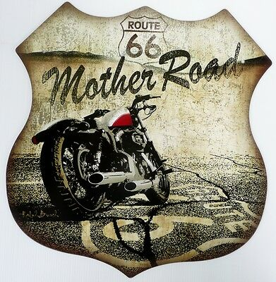Route 66 Mother Road.  Metal Sign All Weather  390X370