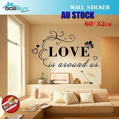 Wall Stickers Removable LOVE Home Living Room Bedroom Decal Picture Art