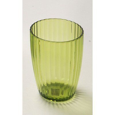 CNHF-BAAPRTU73-Carnation Home Fashions Ribbed Acrylic Tumbler, Palm Green