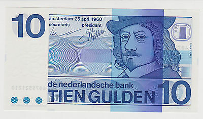 Netherlands 1968 10 Gulden P-91b GEM UNC lot B