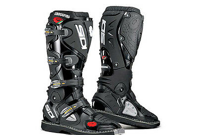Sidi Crossfire Off-Road Motorcycle Boots,  Black Size 42