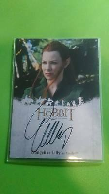 Hobbit Battle of Five Armies Autograph Card Tauriel Evangeline Lilly Cryptozoic