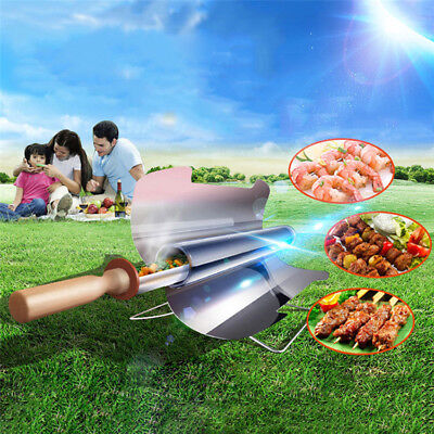 Smokeless Traveling Stove Solar Cooker Oven Cooking Camping Outdoor BBQ Grill