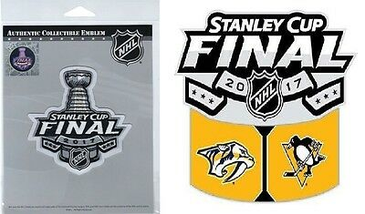 Stanley Cup Final Jersey Patch /nashville Predators Pittsburgh Penguins Sticker