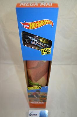 Hot Wheels Mega Mat sized 80cm x 70cm with Car Included - Desert (Age 3+)
