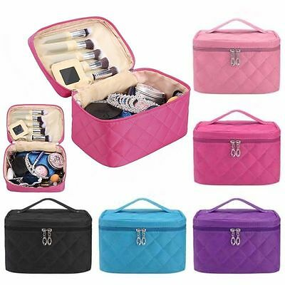 Multifunction Travel Cosmetic Bag Makeup Case Pouch Toiletry Organizer Ladys