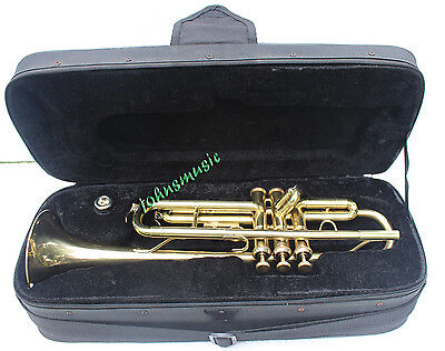 "Amazing Trumpet Brass_Made"" Brass_Finish:trumpets Instruments W/case-Mp"