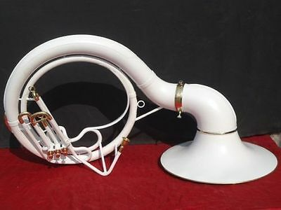 "Sousaphone Tuba White""colored 25'' Bell_Bb Pitch_ ""w/bag&mp Brassitem"