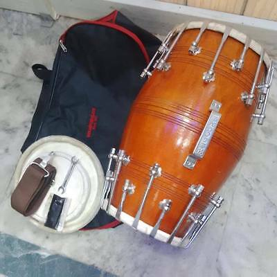 "brand new dholak""mango wood bolt""fitting,dhollki nice sound. BHAJAN DHOLKI DHOL"