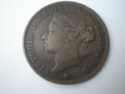 1881 Queen Victoria Jersey One Twelth 1/12Th Of A Shilling