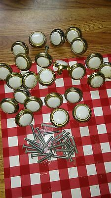 24 VINTAGE and Glass Drawer Knobs  (Lot)