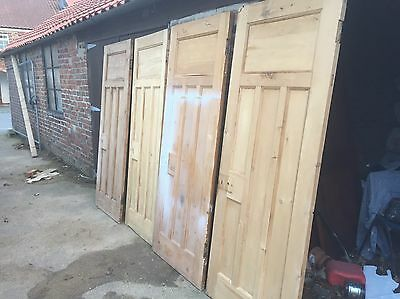 4 x Stripped Reclaimed 1930s Pitch Pine Internal Doors