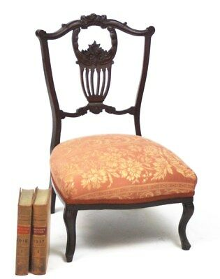 Antique Edwardian Chippendale Mahogany Nursing Chair - FREE Shipping [PL3526]
