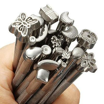 20pcs/Set Leather Craft Tools Kit Punch Stitching Sewing DIY Leather Tools