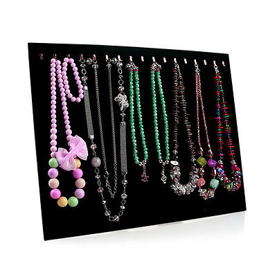 Necklace Jewelry Pendant Chain Show Display Holder Stand Neck Velvet Easel SG