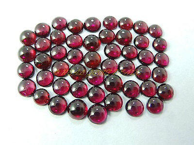 Natural Rhodolite Garnet Cabochons Garnet Smooth Round Cabochons 6 MM 10 PCS