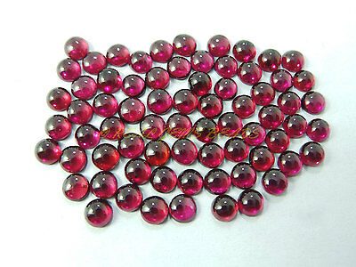 Natural Rhodolite Garnet Cabochons Garnet Smooth Round Cabochons 5 MM 10 PCS