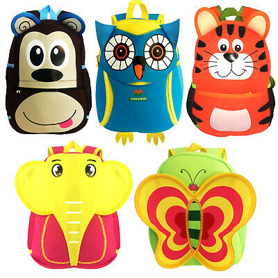 Kids Childrens Boys Girls Junior Animal Character School Bag Backpack Rucksack