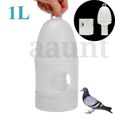 1L 4.3'' x 10.4'' Removeble White Plastic Drinker Feeder With Handle for Pigeons