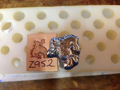 Bucking Bronco Vintage Leathercraft leather working Tandy craftool stamp Z952