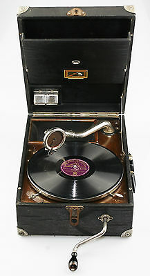 SCARCE 1926/27 HMV 101 FRONT WIND Gramophone - Excellent Working Cond. (JZ98)