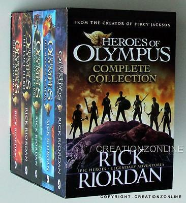 5 Book Set Heroes Of Olympus Complete Clollection Rick Riordan Boxed Collection